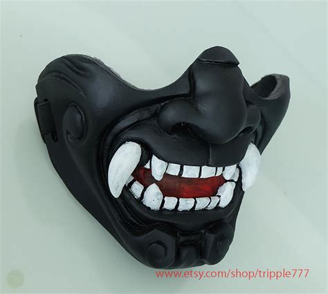 half cover knight samurai mask airsoft mask halloween