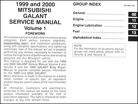 repair anti lock braking 1999 mitsubishi galant user handbook 1999 2000 mitsubishi galant repair shop manual set original