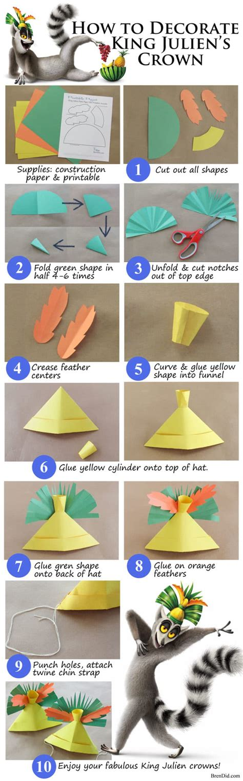 How To Make Crowns Out Of Construction Paper - new year s theme family with king julien