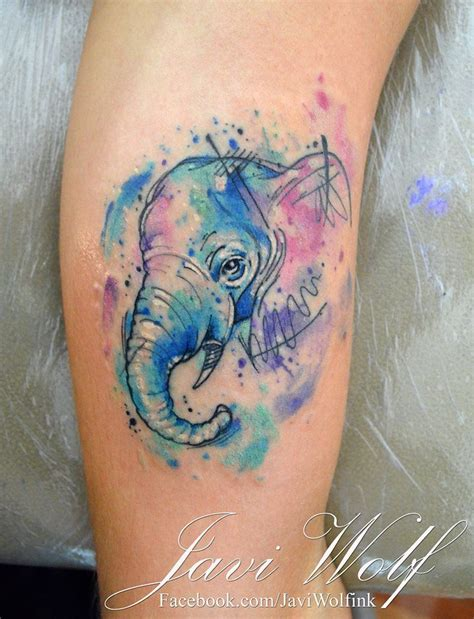 watercolor tattoo tecnica 25 beautiful elephant watercolor ideas on