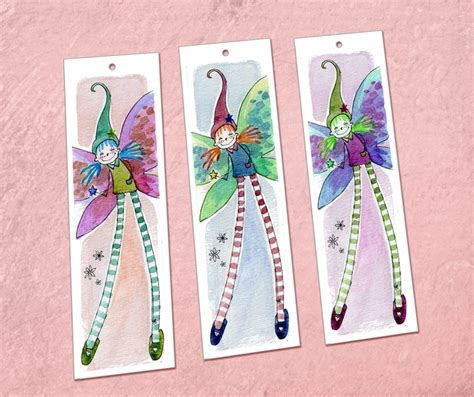 printable rainbow bookmarks garden fairies printable bookmarks include in favor bag
