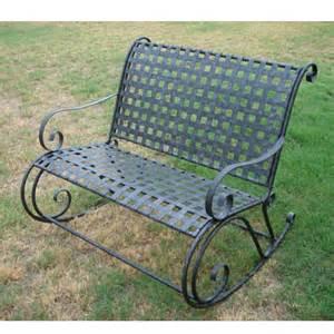 wrought iron patio bench outdoorlivingdecor
