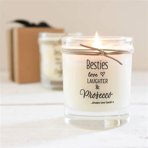 personalised best friend scented candle by a touch of