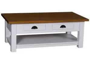 table en pin massif avec rallonge acheter votre table basse en pin massif bicolore avec