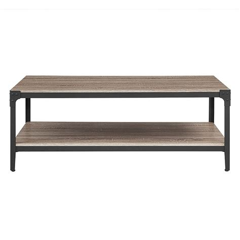 walker edison coffee table walker edison furniture company angle iron driftwood