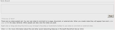 javascript page layout sharepoint tips for noteboard webpart in sharepoint 2010