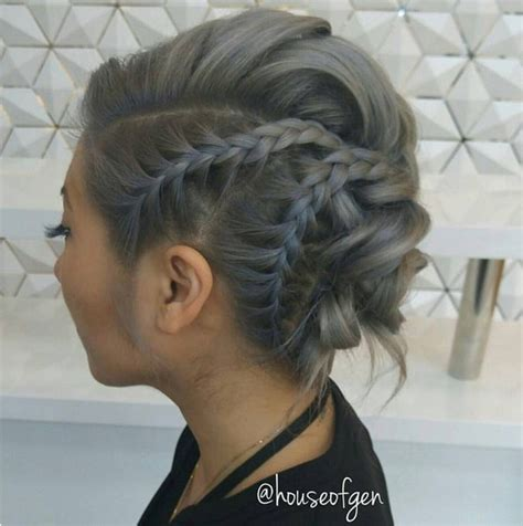 prom hairstyles for medium length hair with braids 25 chic braided updos for medium length hair hairstyles