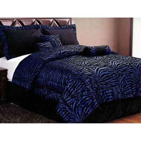 blue zebra bedding set i want this now awesome