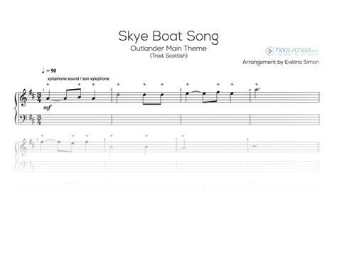 skye boat song no words skye boat song outlander harp school