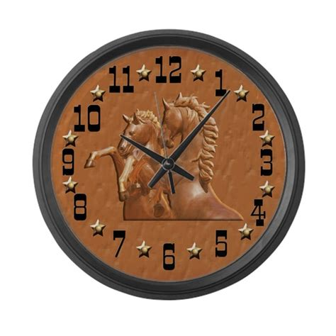 themes big clock western theme clock large wall clock by naturessol