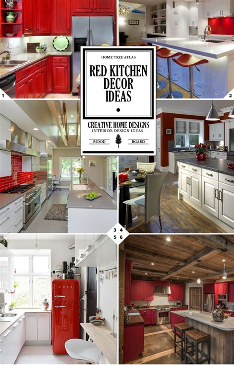 red kitchen decor ideas kitchen color ideas red quicua com