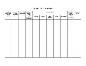 haccp plan template 6 best images of blank haccp flow chart template printable