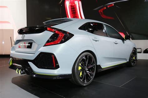 honda civic hatchback prototype debuts  geneva