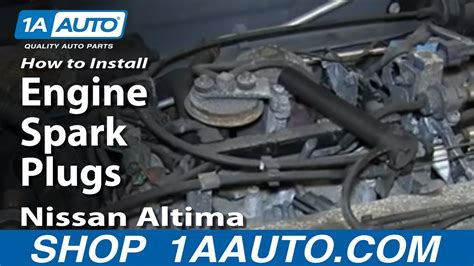 replace spark plugs ignition wires kit   nissan altima youtube