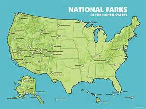 Map Of Usa National Parks by National Parks