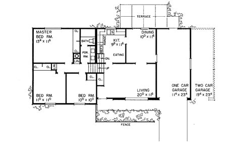 tri level floor plans comfortable tri level hwbdo07978 split level house plan from builderhouseplans com