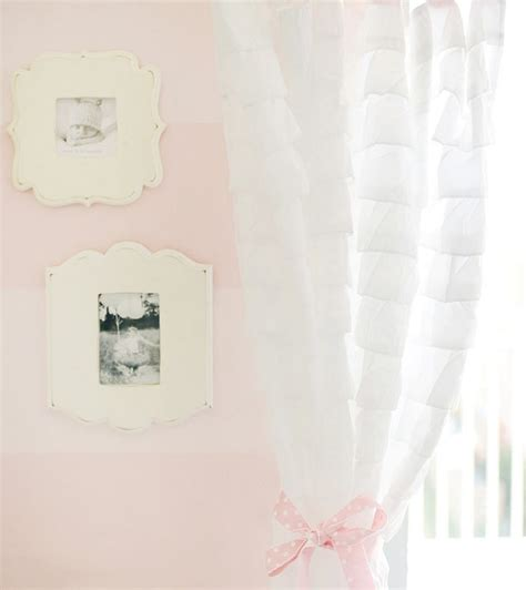 white ruffled nursery curtains ruffled white curtains