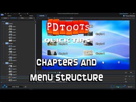 powerdirector dvd menu templates power director chapters menu structure