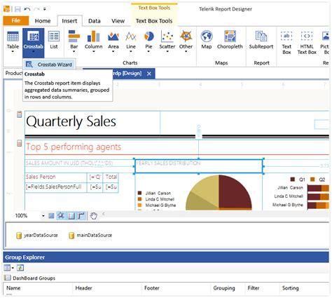 format date report builder create interactive ad hoc reports telerik reporting