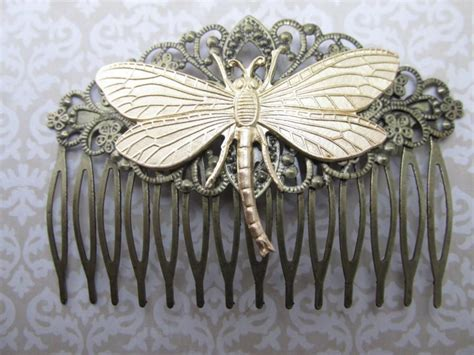 vintage wedding combs for hair dragonfly hair comb woodland wedding vintage hair combs