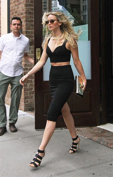 celebrity style jennifer lawrence s street style and the crop top trend