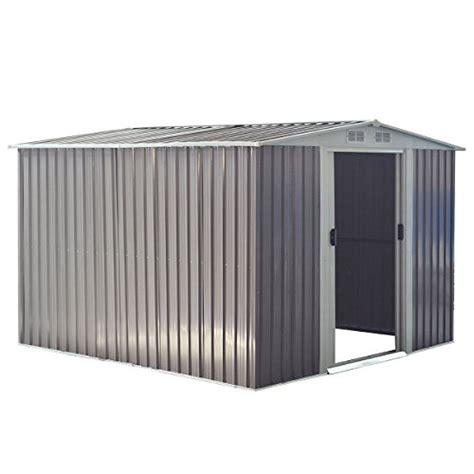 Www Home Decor goplus galvanized steel outdoor garden storage shed 85 x