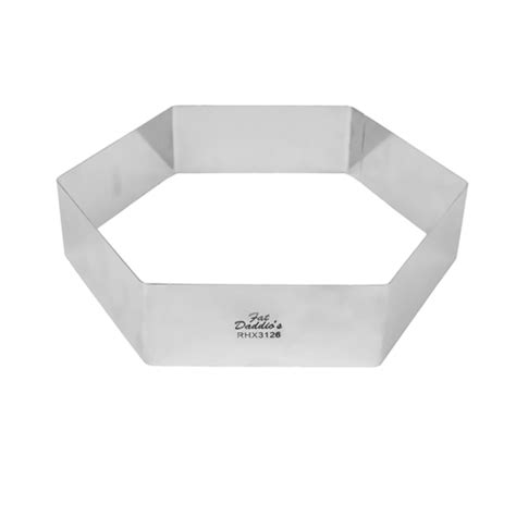 fat daddios stainless steel hexagon cake ring