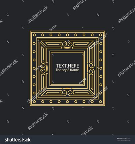 Text Decoration Style by Vector Text Decoration Linear Style Frame Stock Vector