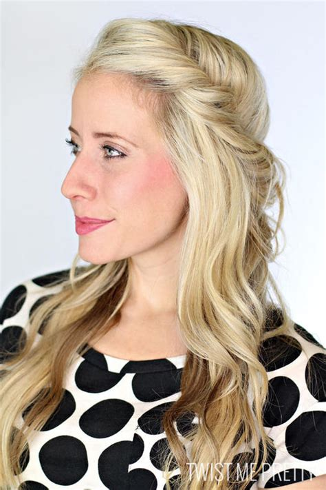 half up half hairstyles easy easy half up half hairstyles to rock for any