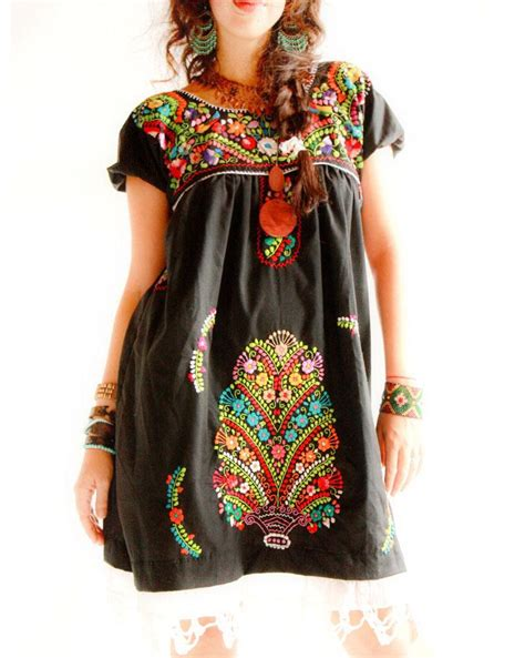 Embroidered Dress handmade mexican embroidered dresses and vintage treasures