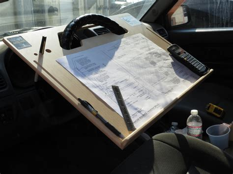 Steering Wheel Desk by Car Laptop Tablet Notepad Contractor Steering Wheel Desk