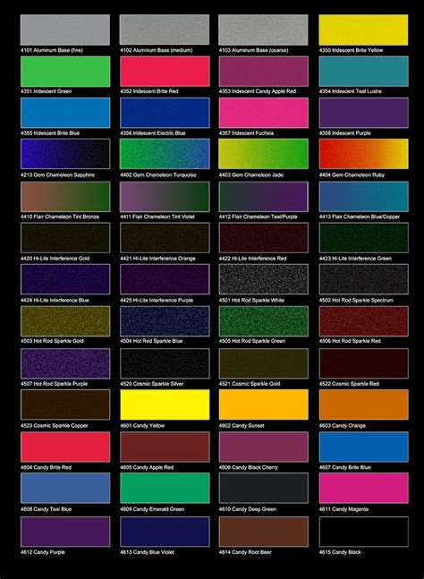 12 best car paint charts images on paint