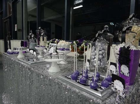 party themes black purple black white and silver birthday party ideas