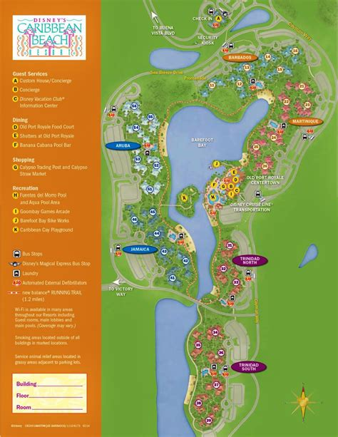 caribbean resort map the villages of disney s caribbean resort