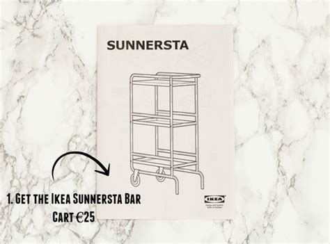 sunnersta ikea hack ikea sunnersta bar cart hack diy yourbeauty ie