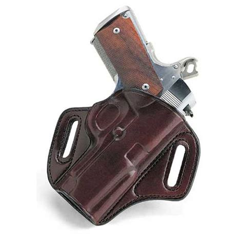 galco concealable leather belt holster in brown and