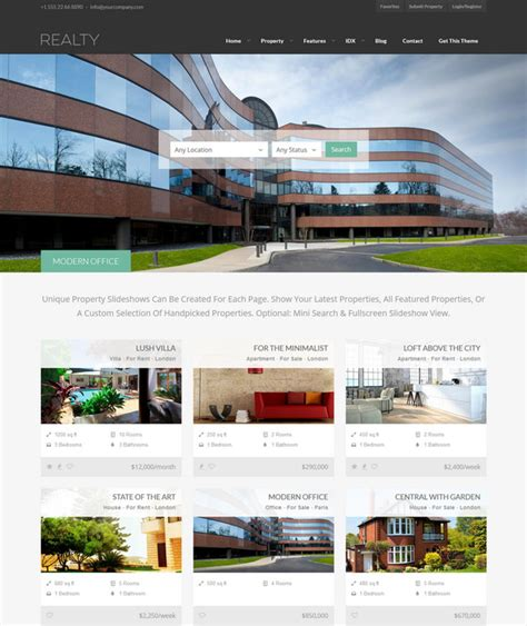 30 best responsive real estate wordpress themes