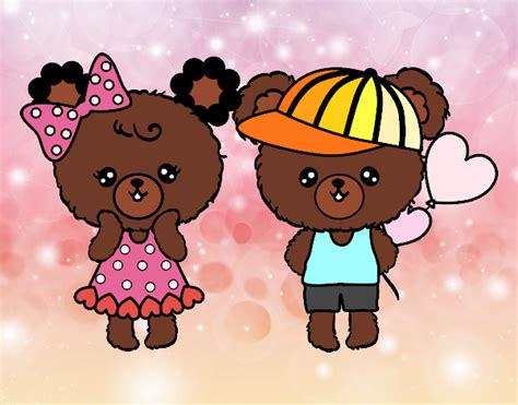 imagenes de osito kawaii dibujo de ositos kawaii enamorados pintado por ladybug en
