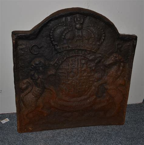 Cast Iron Fireplace Back by Tennants Auctioneers A Charles Ii Cast Iron Back
