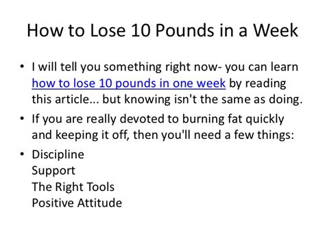 How To Shed Pounds by Lose 5 Lbs In A Week