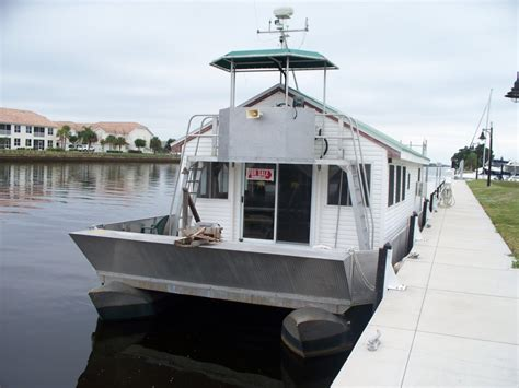 pontoon house boats pontoon house boat for sale in sw florida sold