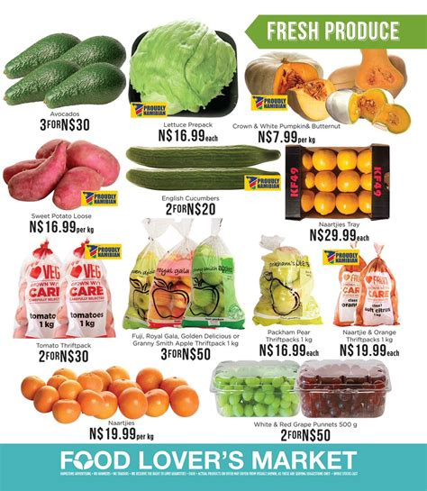 To Market Special Treats by Specials Namibia On Quot Food Lover S Market Specials