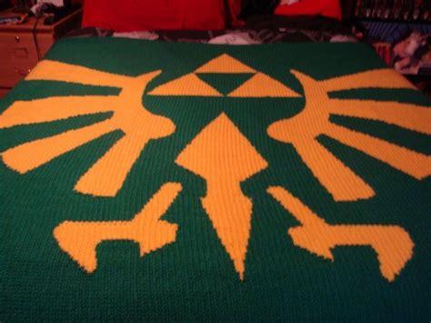 pattern zelda legend of zelda triforce blanket crochet craft ideas