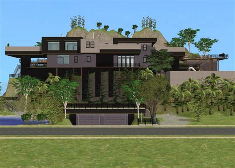how to buy a new house in sims 3 sims 2 cliffside house by ramborocky on deviantart