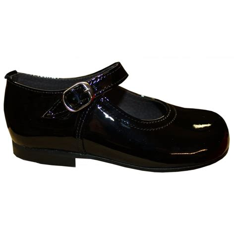 panyno black patent leather shoes