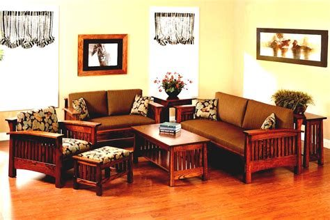 simple wooden sofa sets for living room with regard to