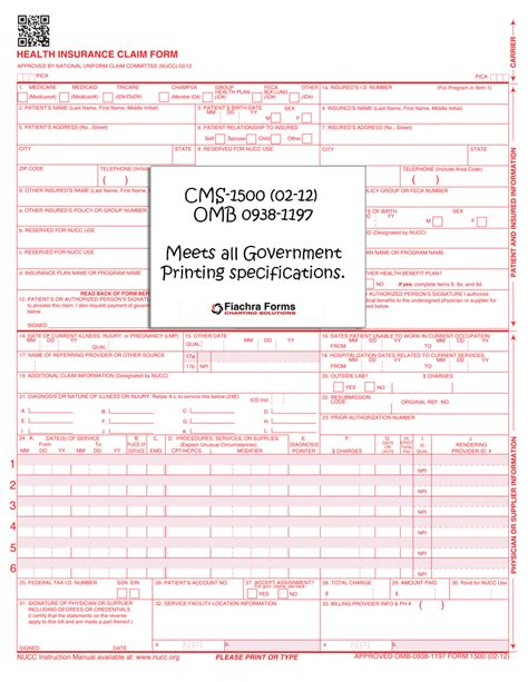 Products Archive Fiachra Forms Charting Solutions Cms 1500 Template