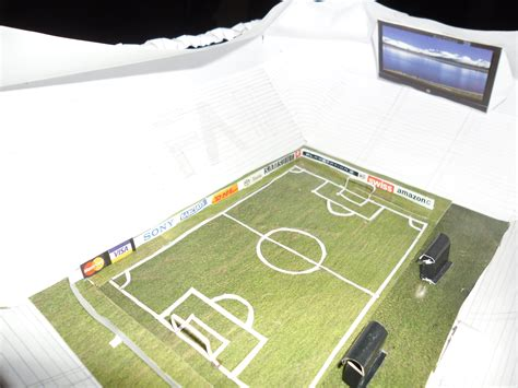 How To Make A Paper Football Stadium - papercraft handmade football stadium model yushan iceboy
