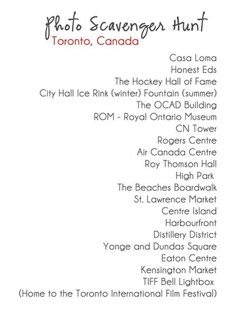 photo scavenger hunt list photo scavenger hunt toronto traveling 9 to 5