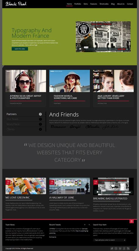 themes in the black pearl 21 best metro style wordpress themes 2018